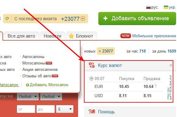 Информеры курса валют